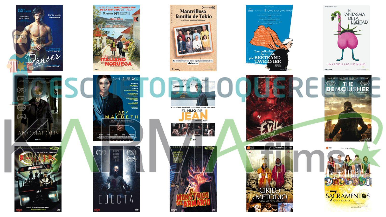 Lanzamientos de septiembre en DVD y Blu-ray de Karma Films
