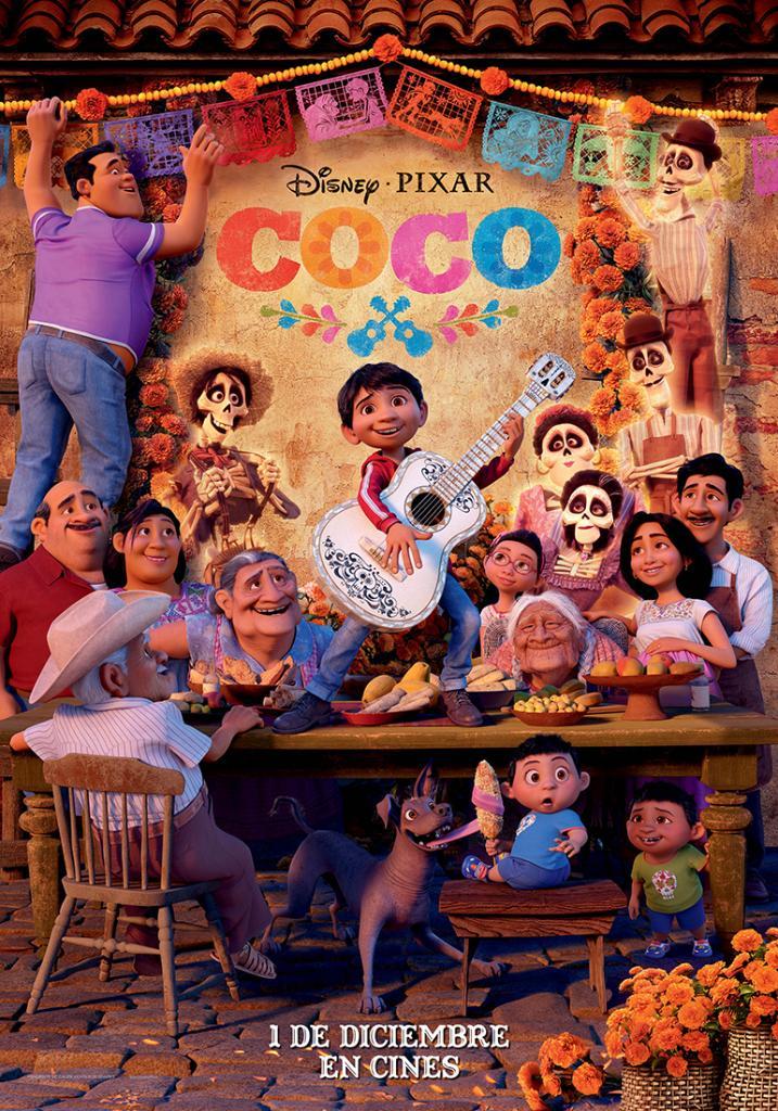 Poster español de coco
