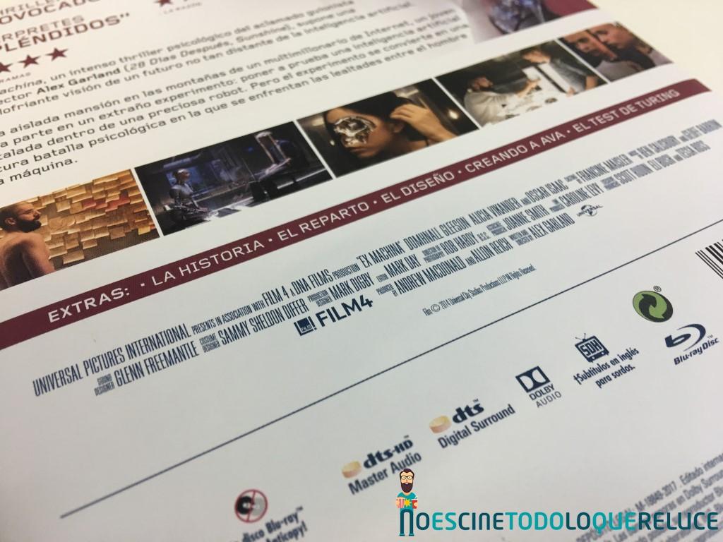 'Ex_Machina': Reportaje fotográfico y análisis de la edición Steelbook (Blu-ray)