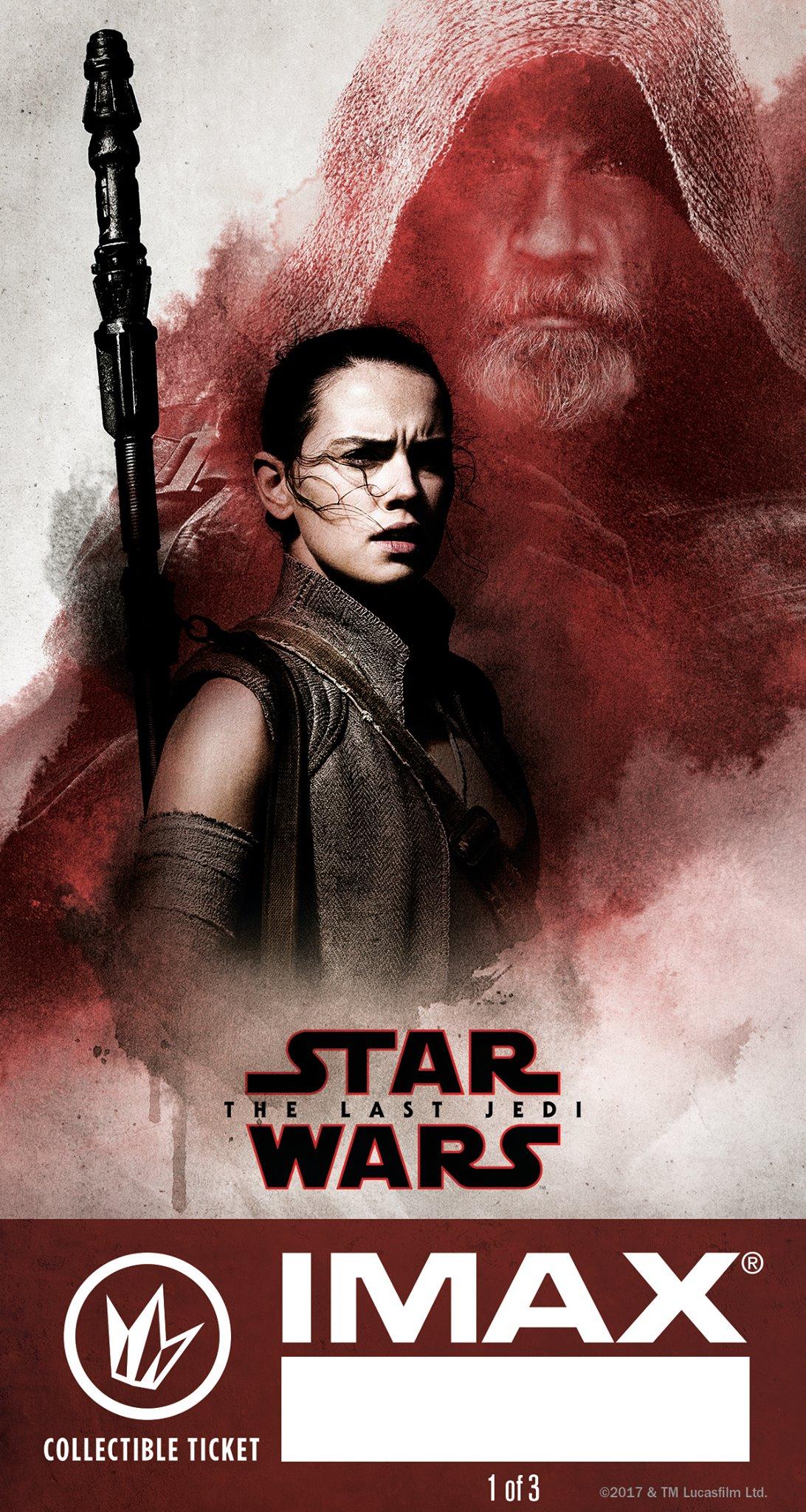 'Star Wars: los últimos Jedi': Nuevo póster y coleccionables para salas IMAX