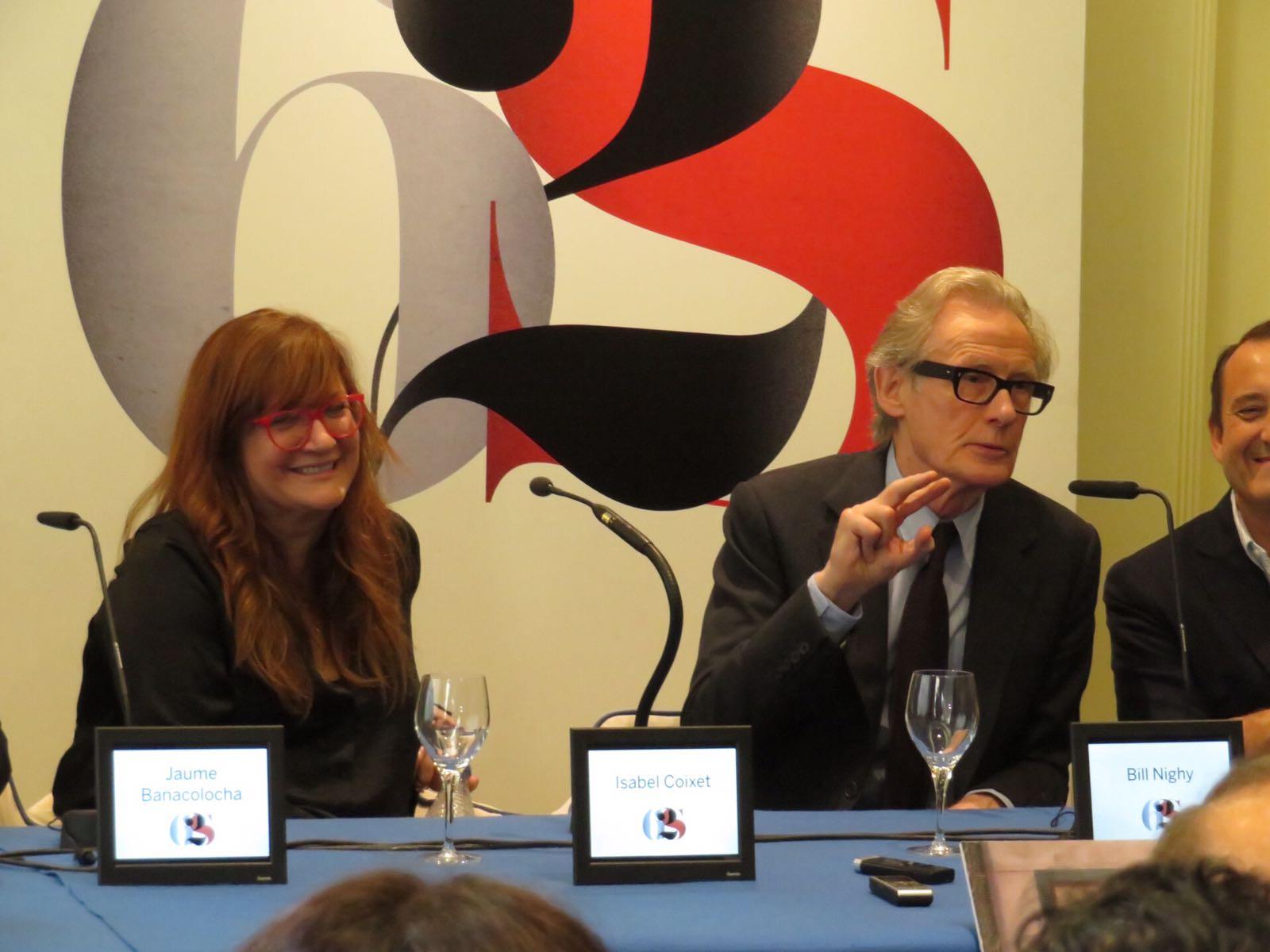 62 SEMINCI. Rueda de prensa de 'La librería' con Isabel Coixet y Bill Nighy