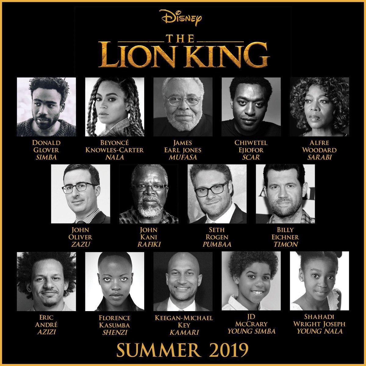 'El Rey León': Revelado el espectacular reparto de la nueva versión