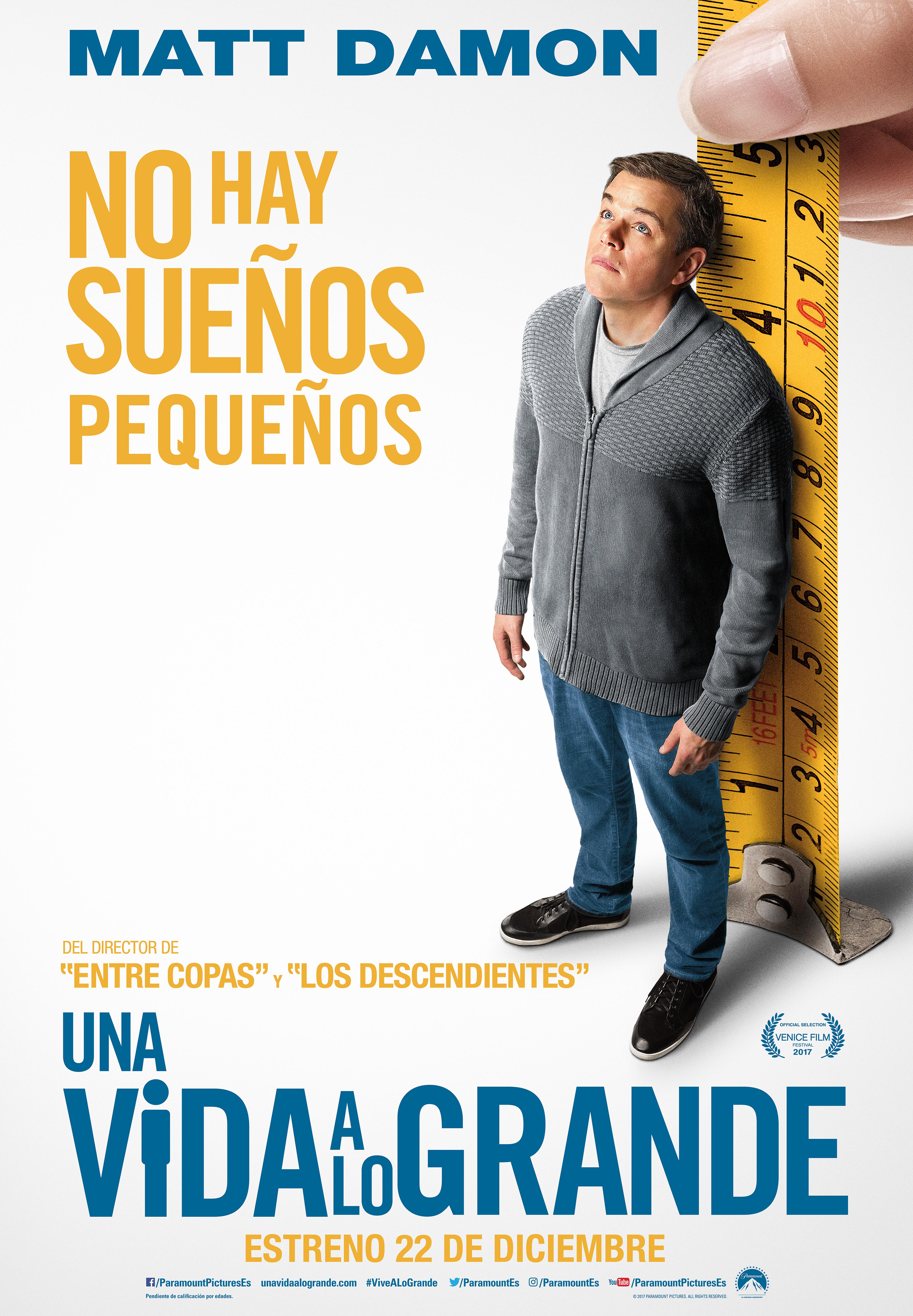 'Una vida a lo grande': Póster de lo nuevo de Alexander Payne con Matt Damon