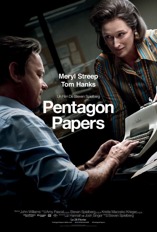 'Los archivos del Pentágono': Póster francés de la película de Steven Spielberg con Tom Hanks y Meryl Streep