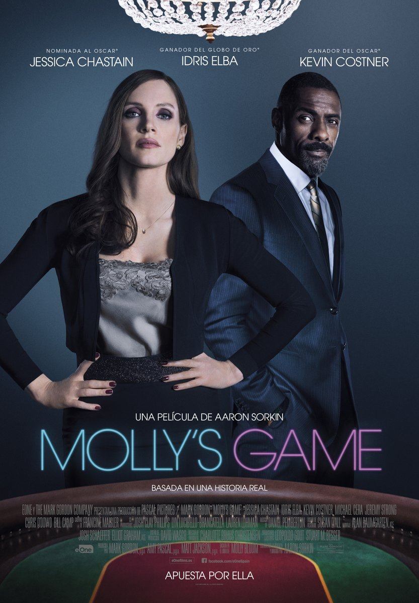 'Molly's Game': Póster final español del debut en la dirección de Aaron Sorkin