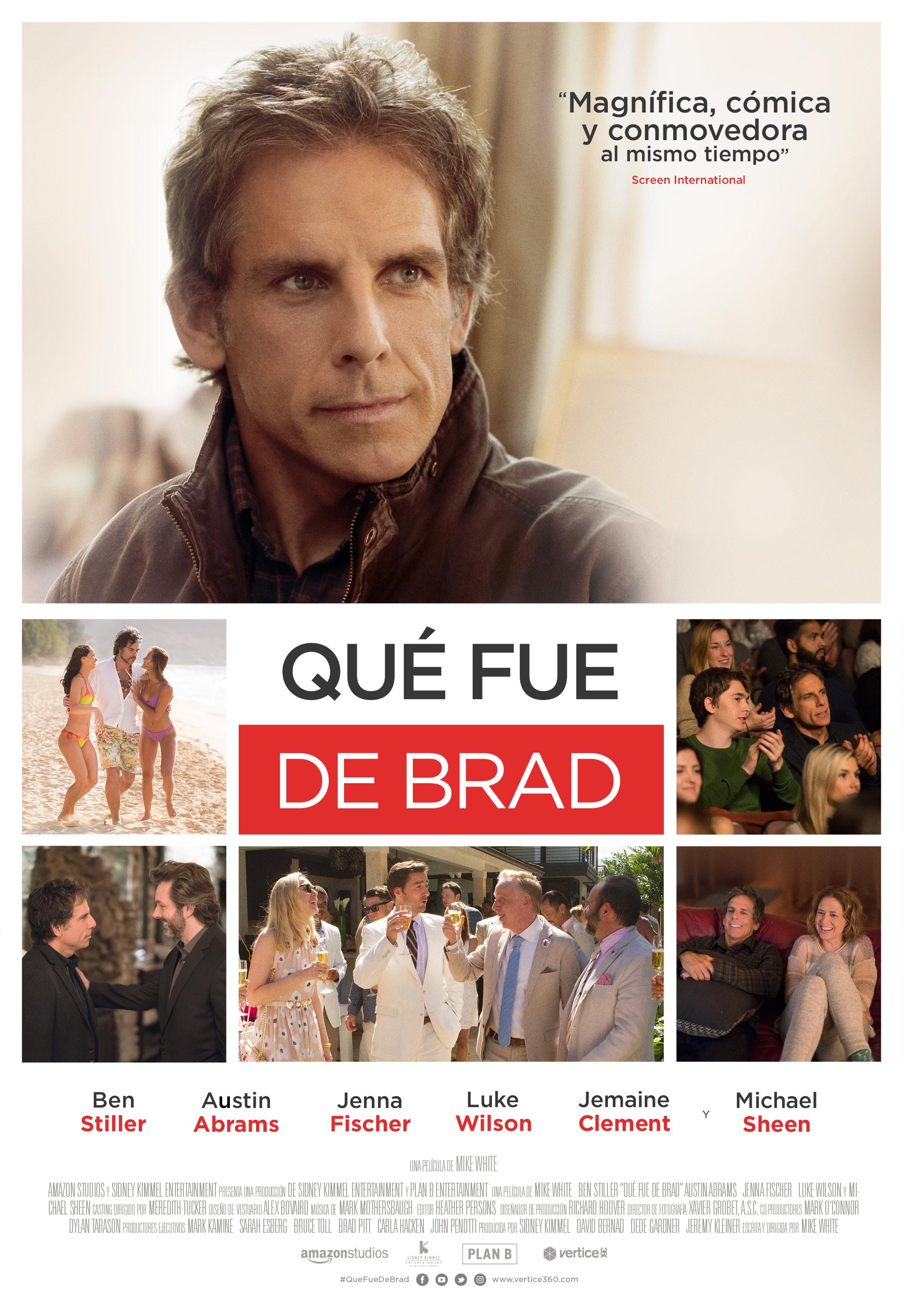 'Qué fue de Brad': Póster español de la nueva comedia con Ben Stiller