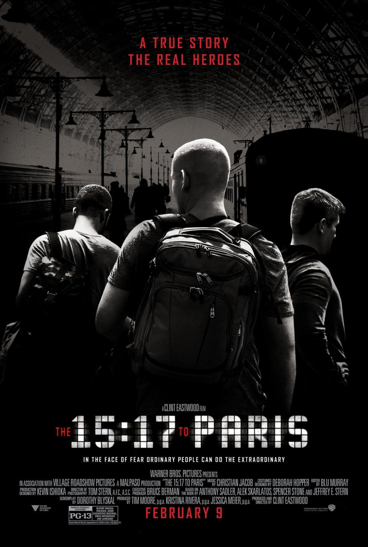 '15.17 Tren a París': Póster internacional de lo nuevo de Clint Eastwood