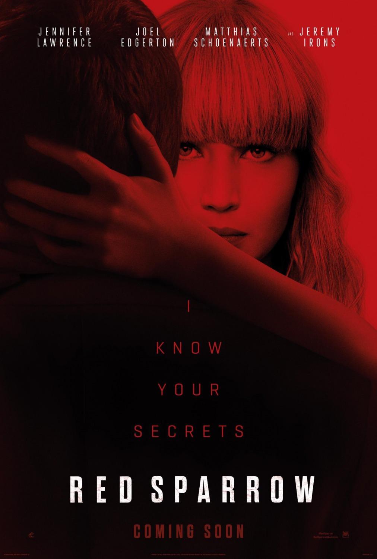 'Gorrión Rojo': Nuevo póster de la película con Jennifer Lawrence