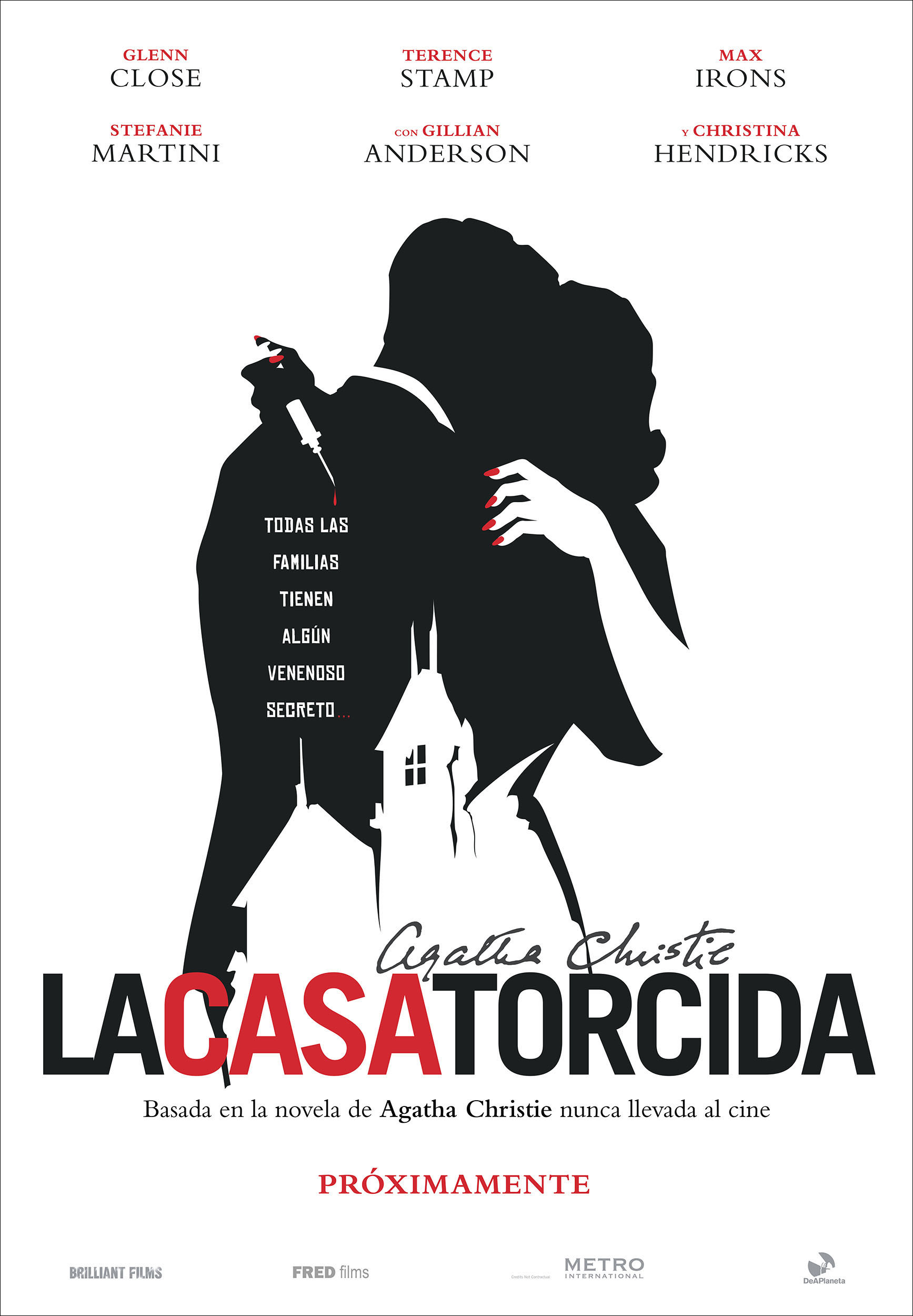 'La casa torcida': Teaser póster del thriller basado en la novela de Agatha Christie