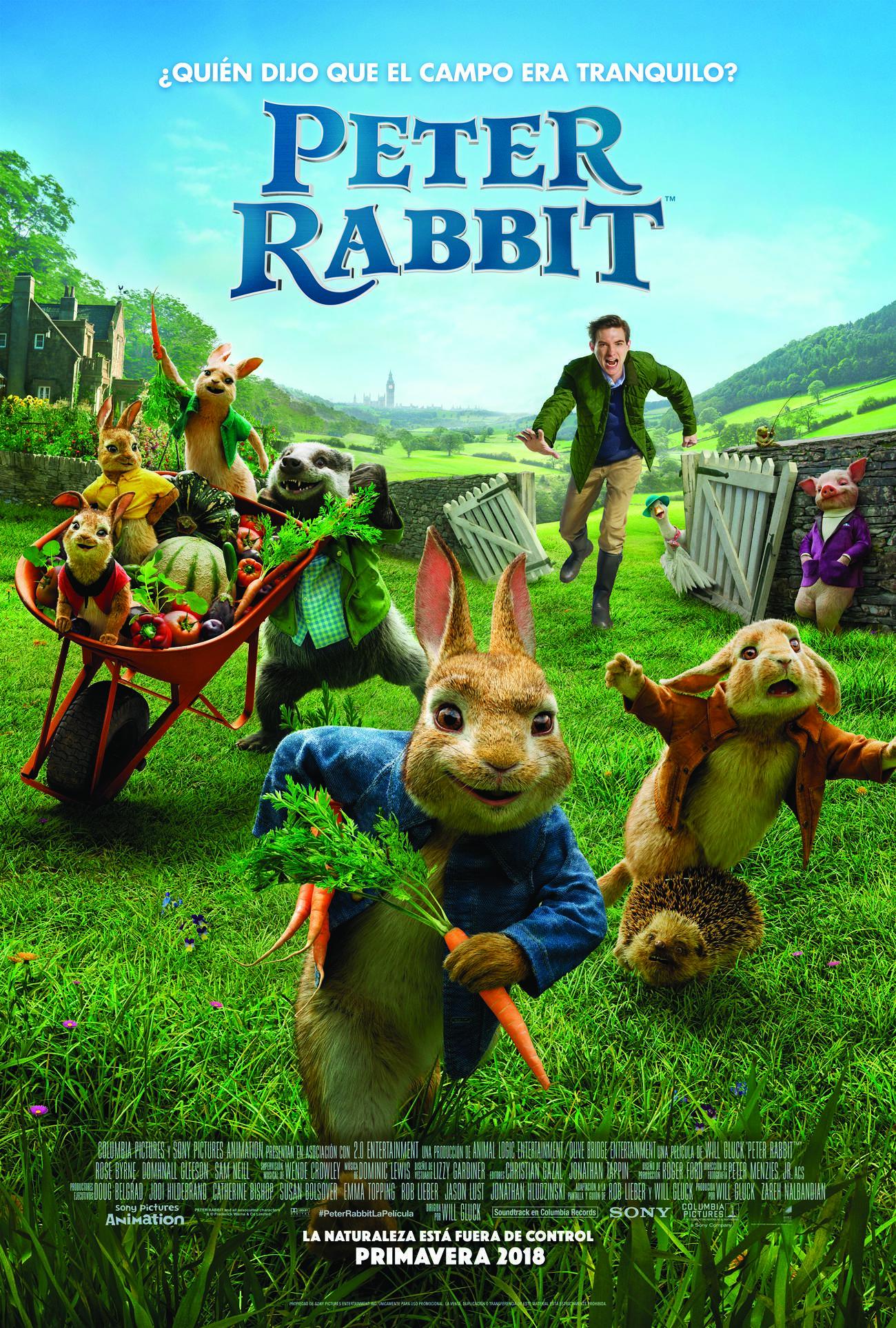 'Peter Rabbit': Póster final español de la adaptación del querido clásico inglés