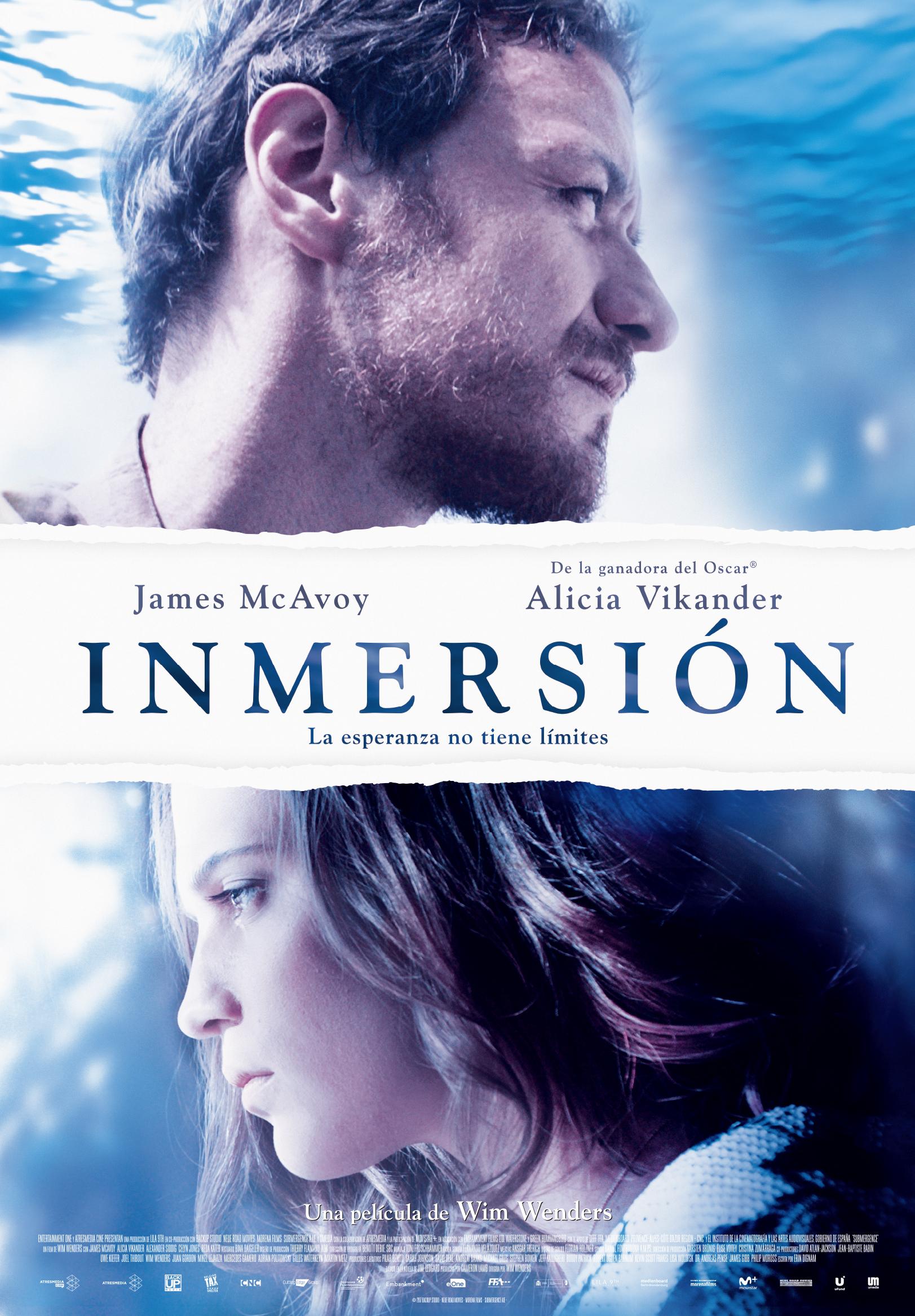 'Inmersión': Póster final español de la película de Wim Wenders