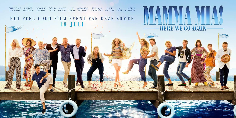 'Mamma Mia! Una y otra vez': Banner promocional con todo el reparto