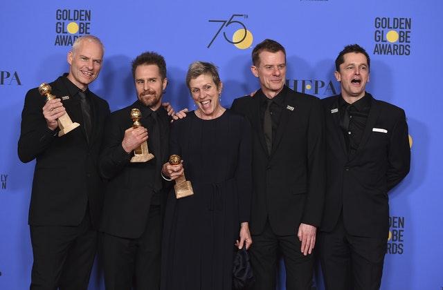 Guillermo del Toro y 'Tres anuncios en las afueras' triunfan en los Globos de Oro