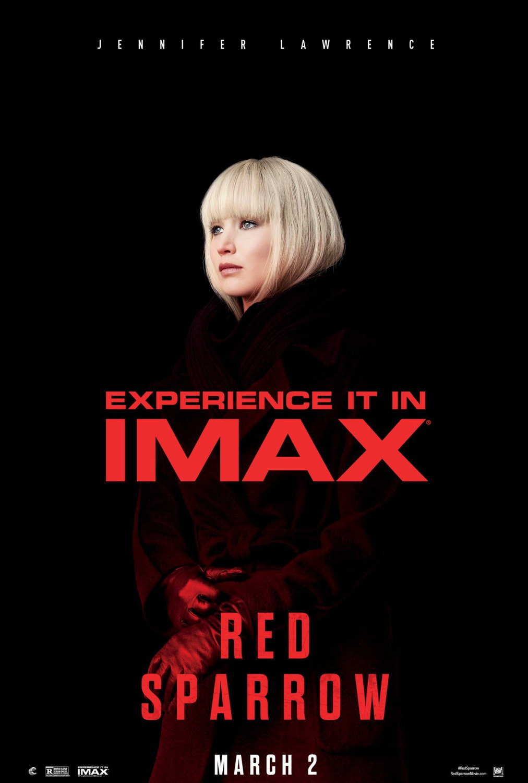 'Gorrión Rojo': Póster IMAX de la nuevo de Jennifer Lawrence