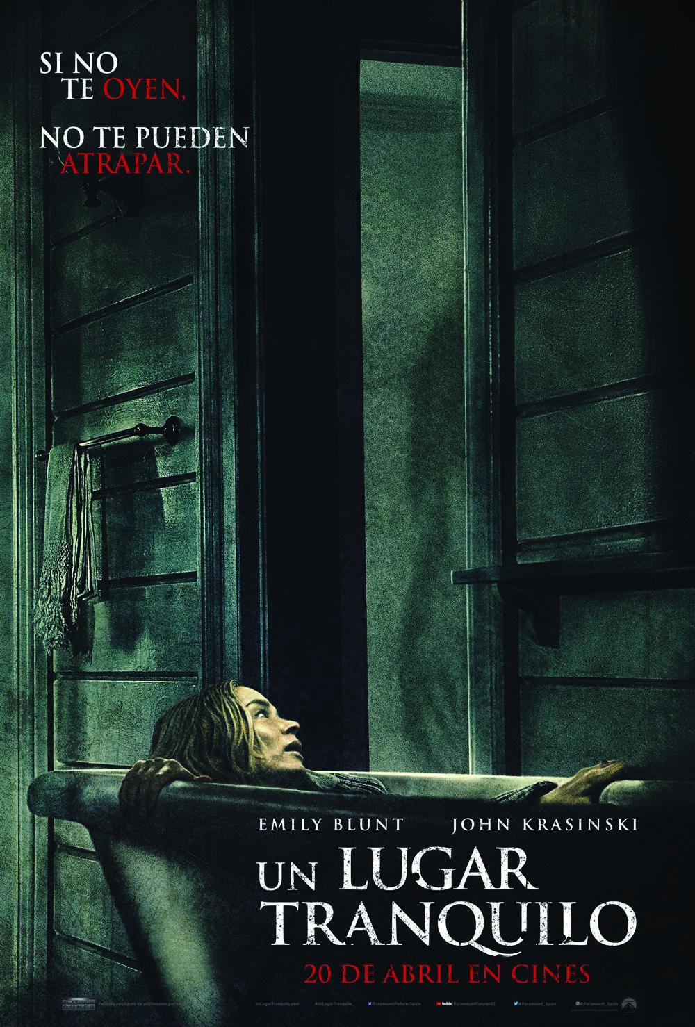 'Un lugar tranquilo': Póster de la película de terror con John Krasinski y Emily Blunt
