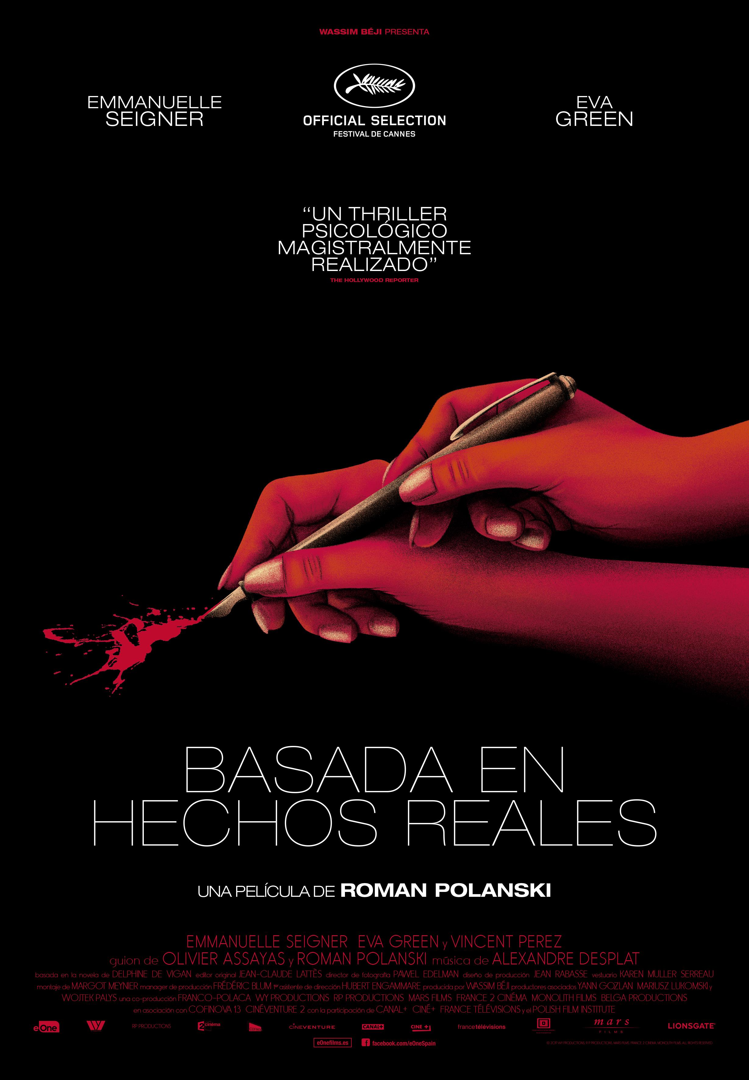 'Basada en hechos reales': Póster y tráiler de lo nuevo de Roman Polanski