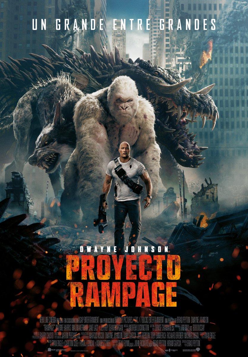 'Proyecto Rampage': Póster final español... desvelando nuevo título
