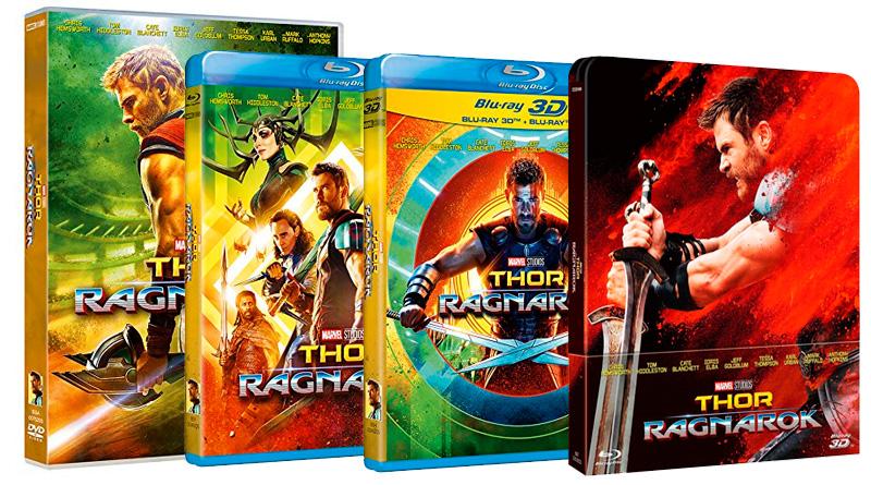 'Thor: Ragnarok': Ya a la venta en DVD, Blu-ray, Blu-ray 3D y Steelbook