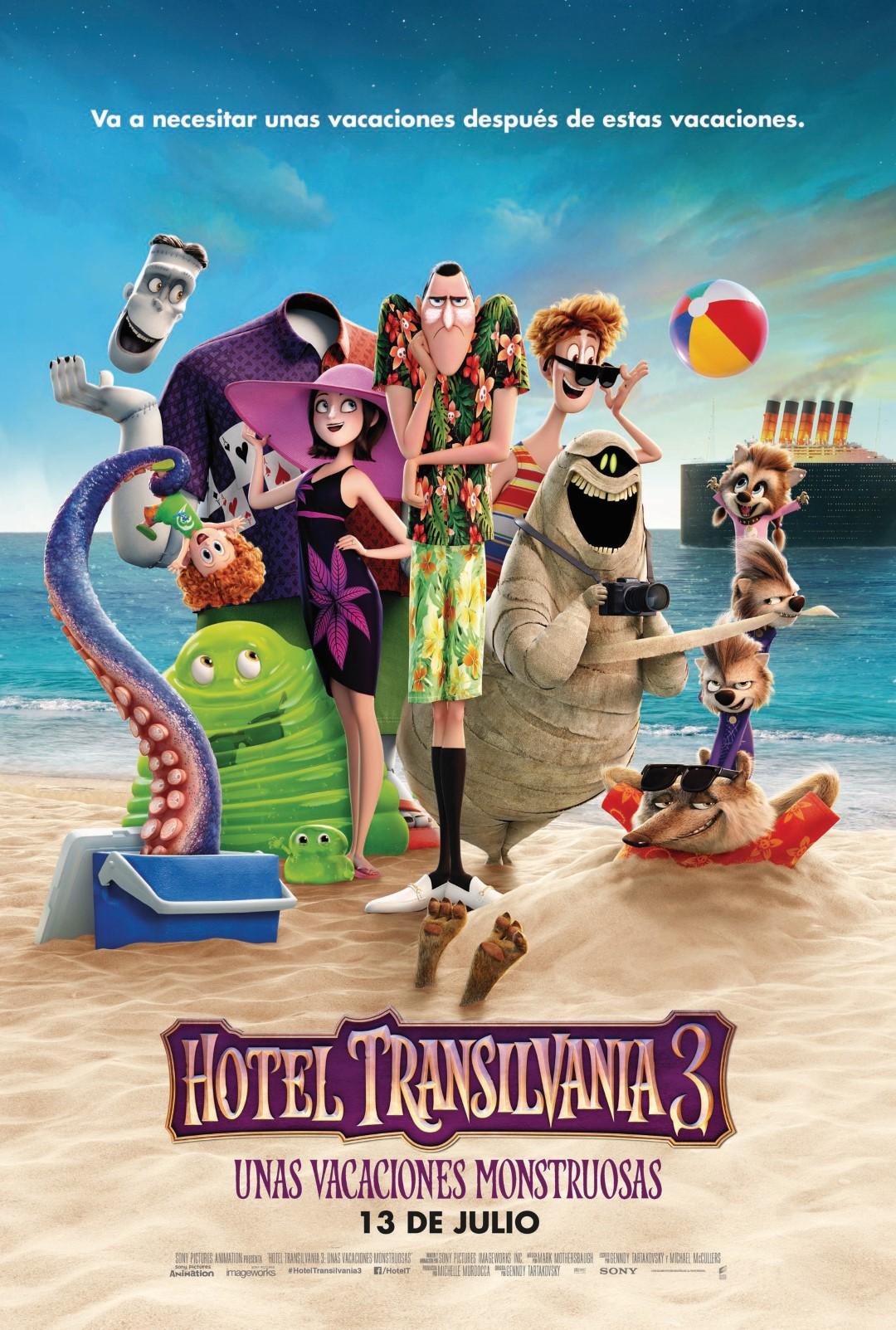 'Hotel Transilvania 3. Unas vacaciones monstruosas': Nuevo y vacacional póster