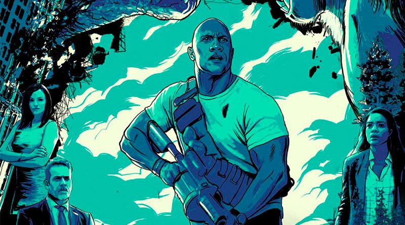 'Proyecto Rampage': Ilustrado póster para salas IMAX