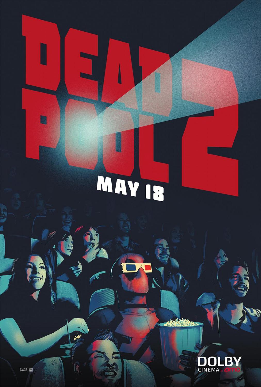'Deadpool 2': Nuevo póster con el mercenario bocazas disfrutando en las salas AMC