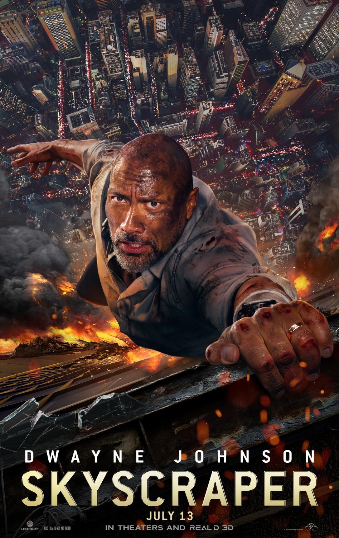 'El rascacielos': Dwayne Johnson sobrevive por los aires en el nuevo póster