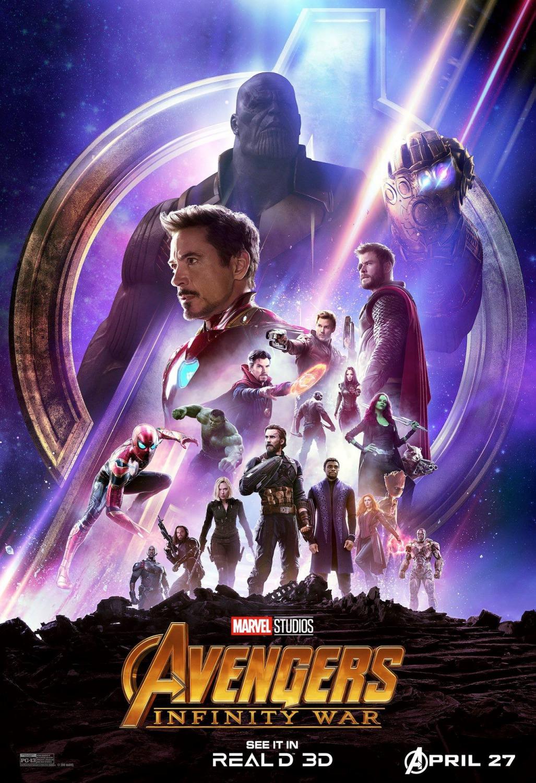 'Vengadores: Infinity War': Espectaculares pósters para salas AMC y RealD 3D