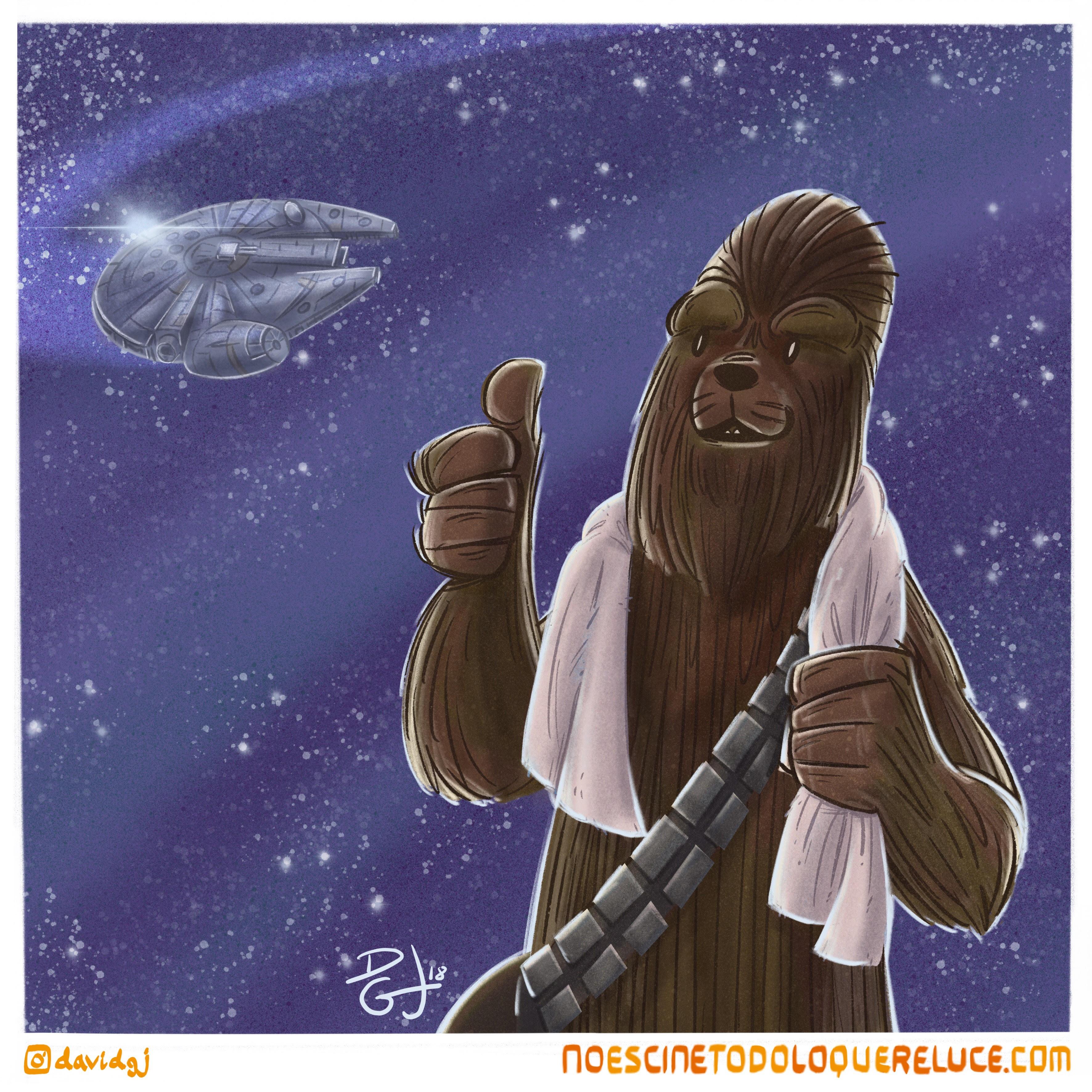 Celuloide Ilustrado: Chewbacca celebra el Día de la toalla