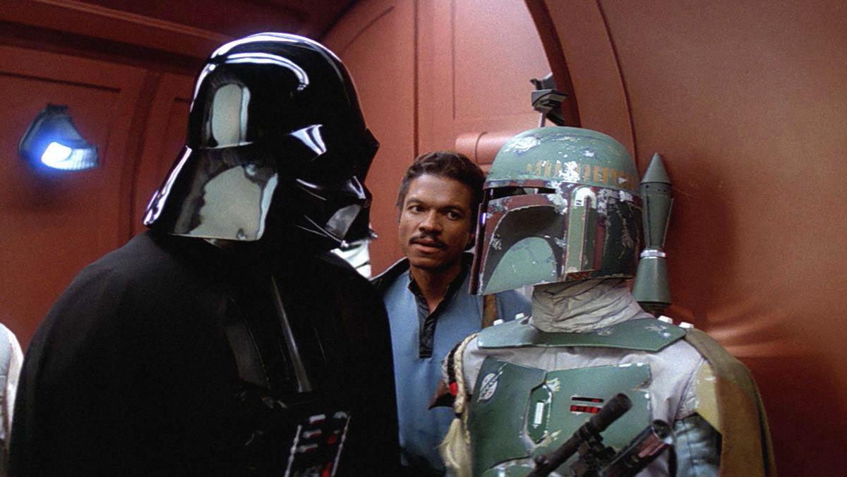 Boba Fett Darth Vader y Lando