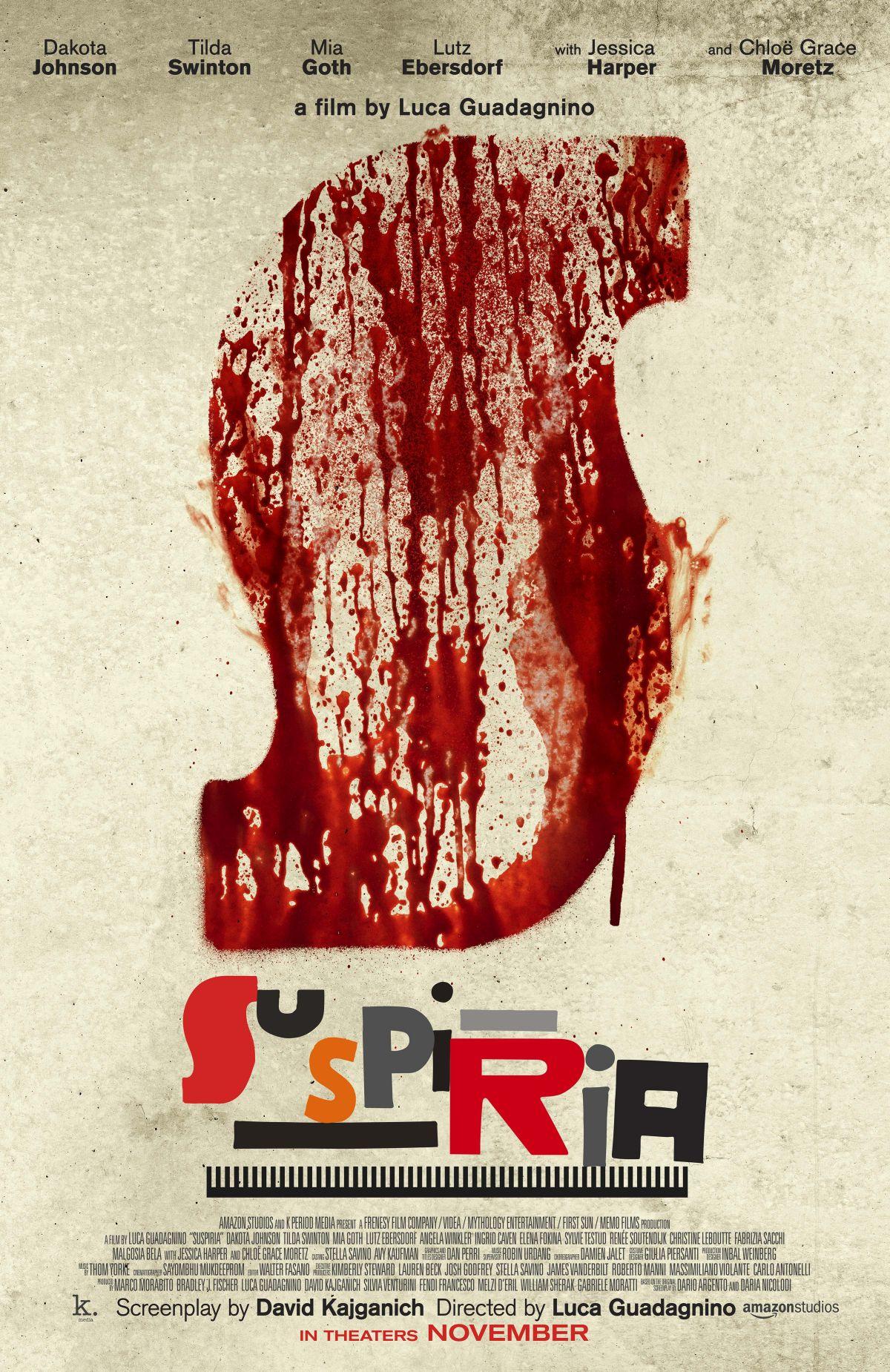 'Suspiria': La sangre acapara el nuevo póster