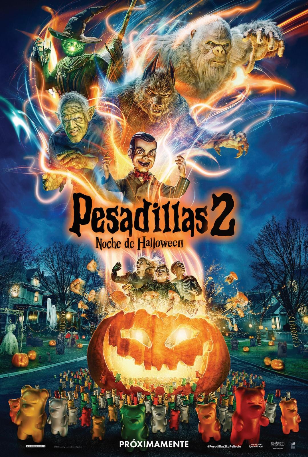 'Pesadillas 2: Noche de Halloween': Póster de la nueva adaptación de los libros de R.L. Stine