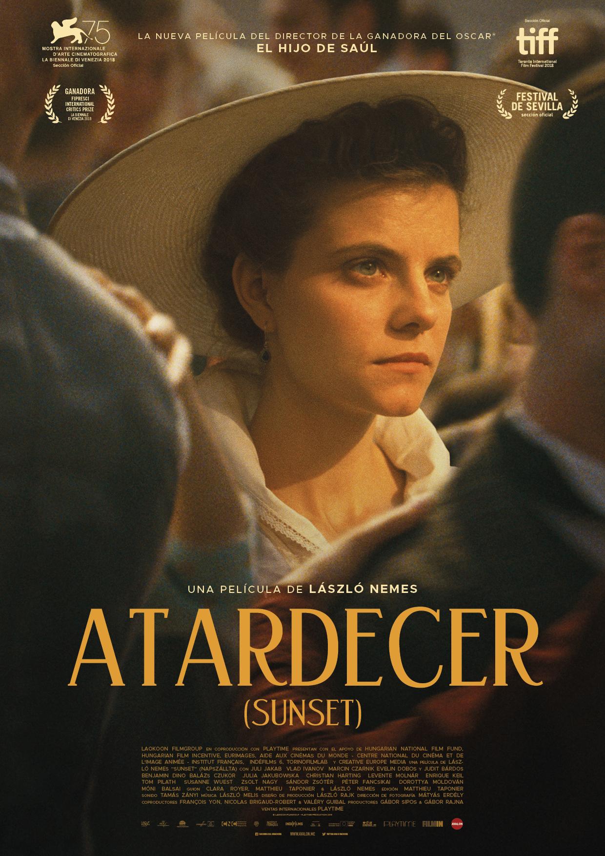 'Atardecer': Póster y tráiler en español de la película de László Nemes
