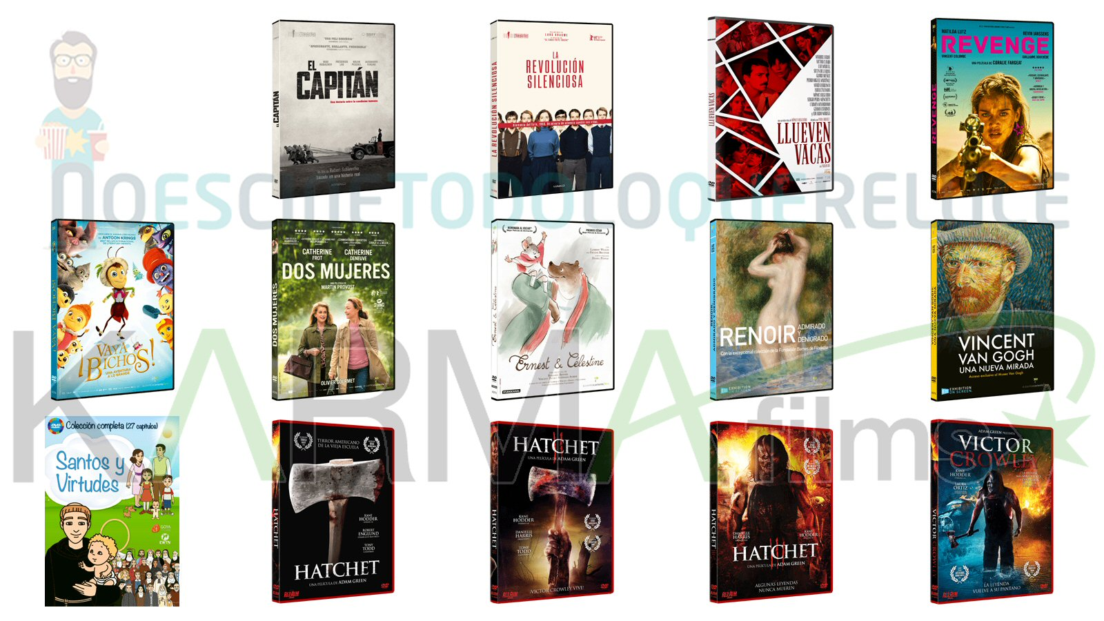 Lanzamientos de diciembre en DVD y Blu-ray de Karma Films