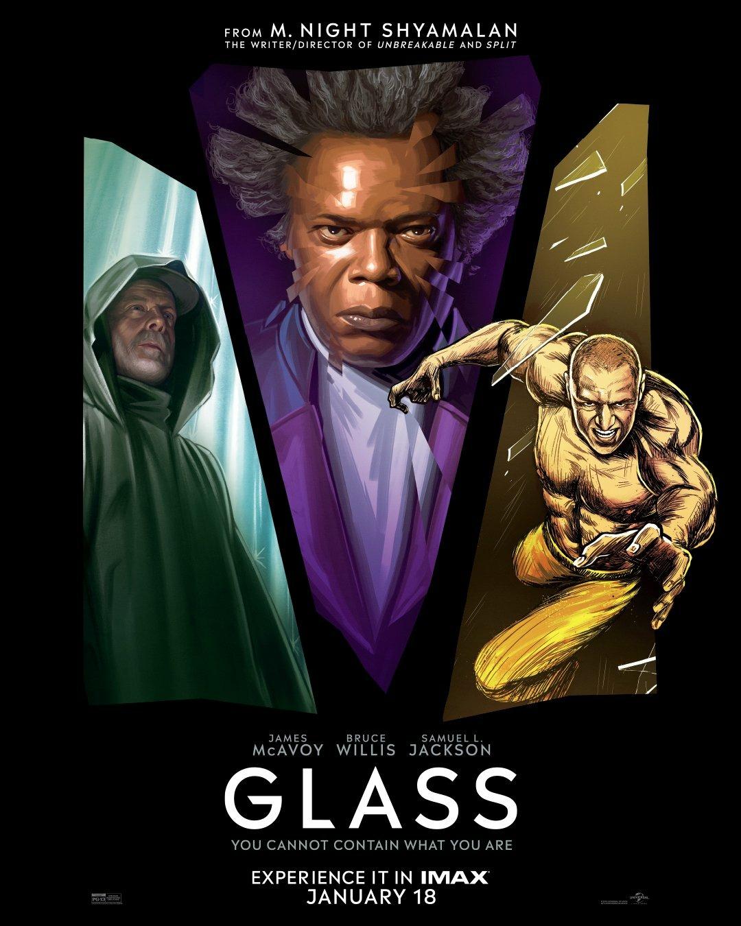 'Glass (Cristal)': Póster IMAX al más puro estilo cómic