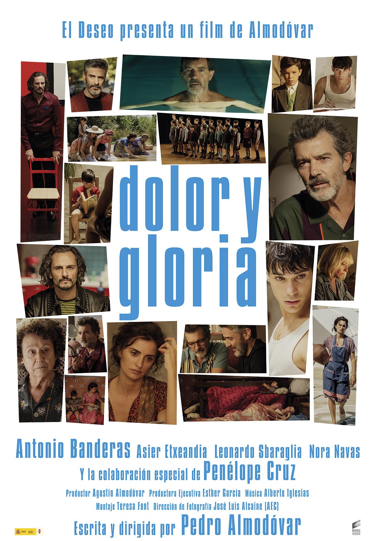 'Dolor y Gloria': Póster de la nueva película de Pedro Almodóvar