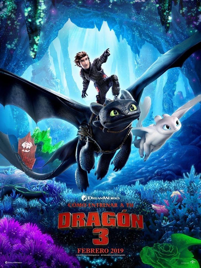 """Pósters de la película """"Cómo entrenar a tu dragón 3"""""""