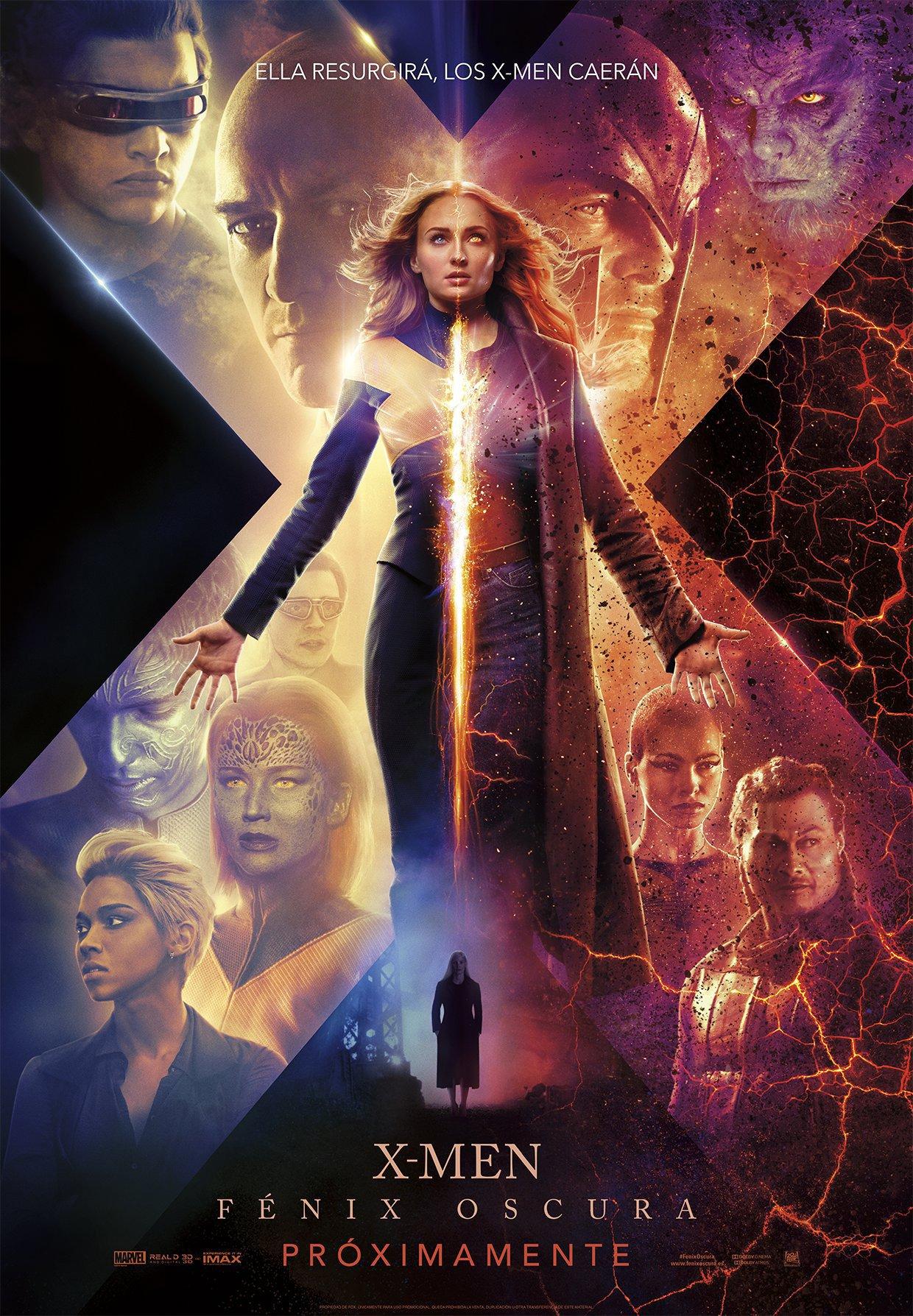 'X-Men: Fénix Oscura': El nuevo póster nos muestra las dos caras de Jean Grey