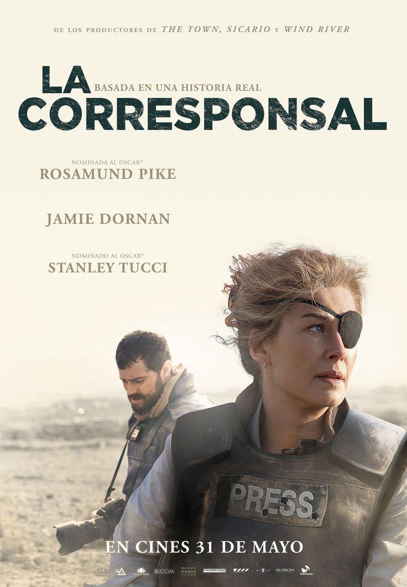 Póster de 'La corresponsal', basada en la vida de la periodista Marie Colvin