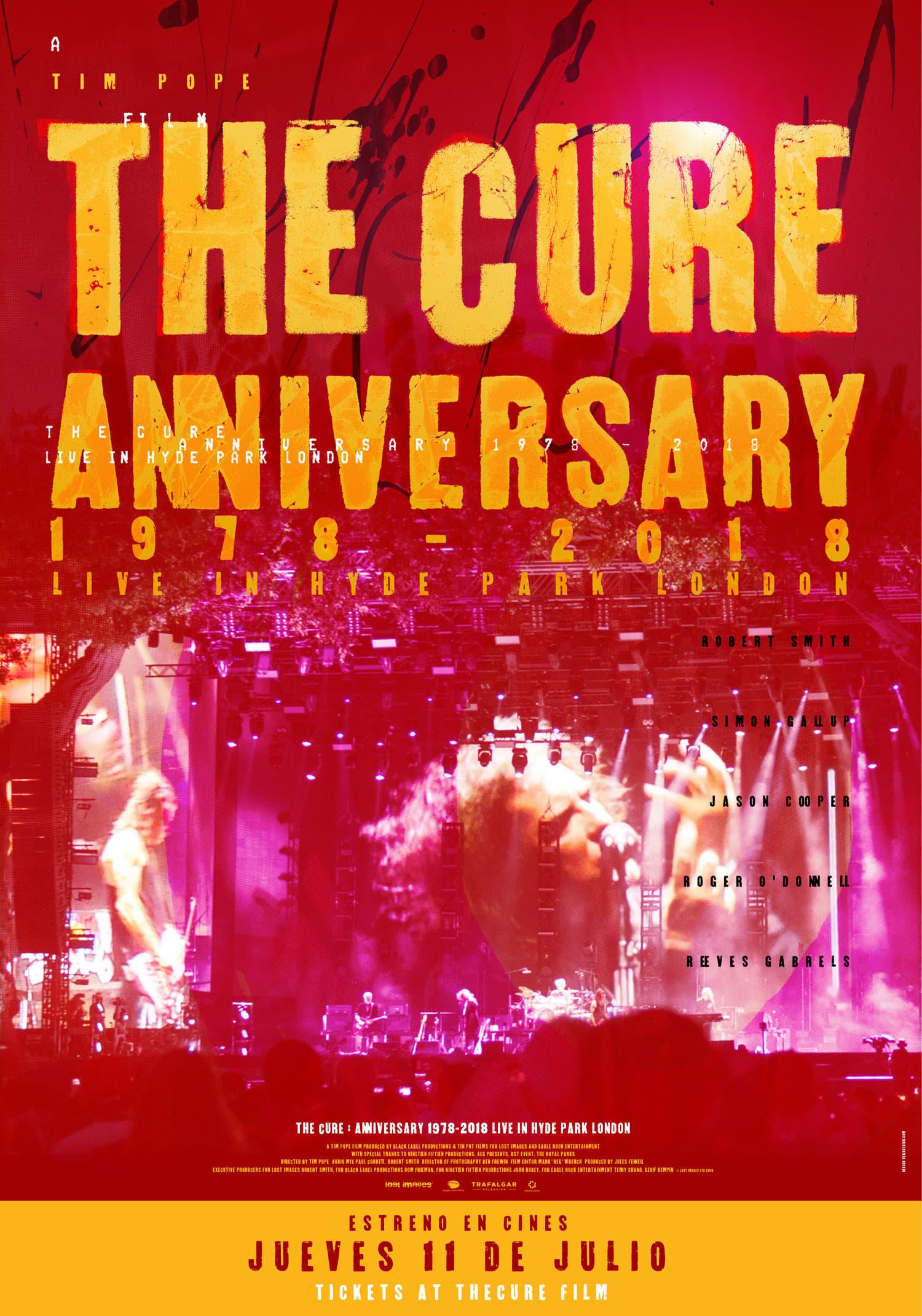 "Pósters de la película ""The Cure :  Anniversary 1978-2018 Live in Hyde Park"""