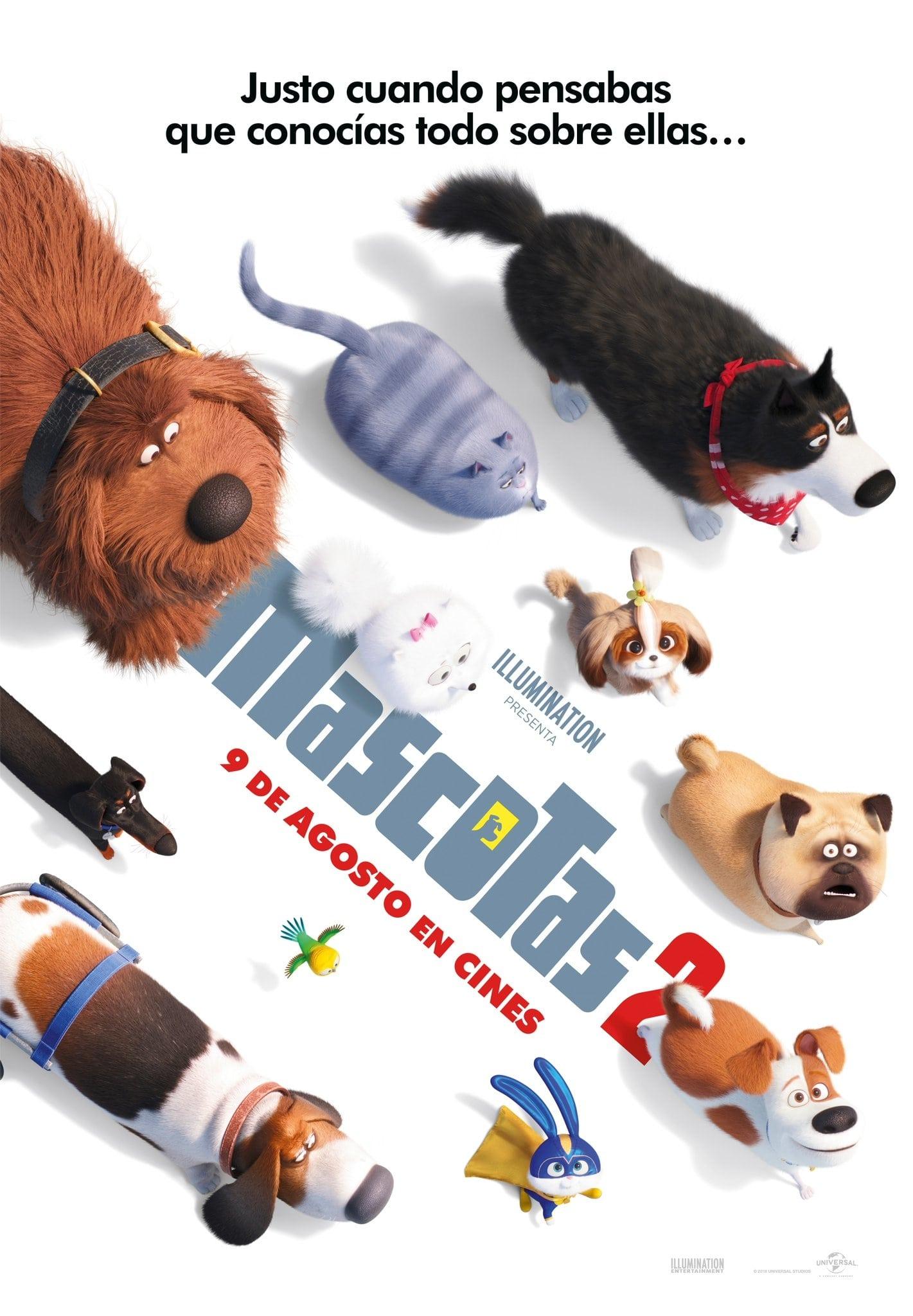"""Pósters de la película """"Mascotas 2"""""""
