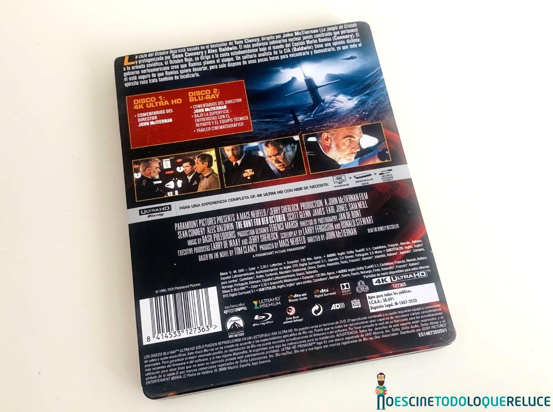 La Caza Del Octubre Rojo Reportaje Fotográfico Y Análisis Steelbook 4k Uhd Blu Ray